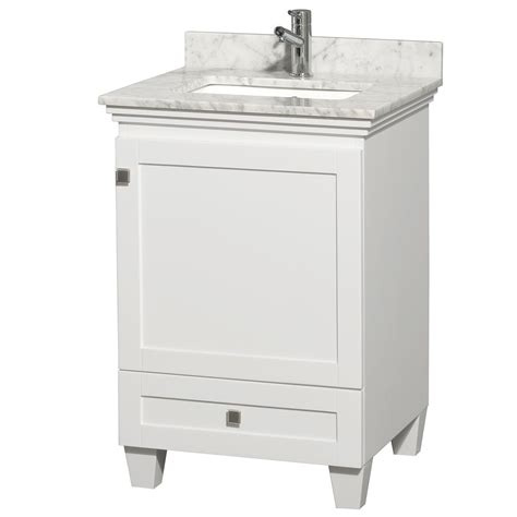 Small White Bathroom Vanities by Acclaim 24 Quot White Bathroom Vanity Set Solid Oak Vanity Blends