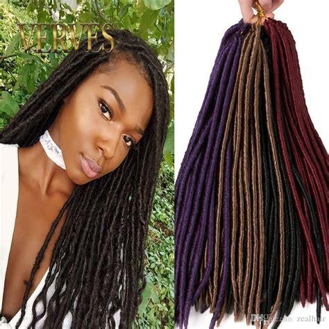 Verves 18 Inch Crochet Hair Faux Locs Dreadlocks Braids
