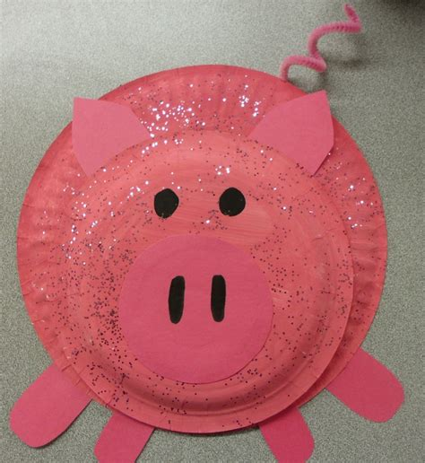 pig paper plate craft paper plate pig craft ideas plates