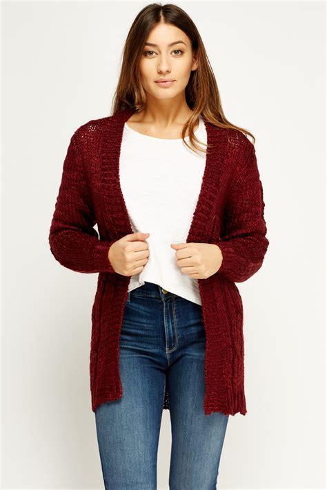 burgundy knit cardigan burgundy knit cardigan just 163 5