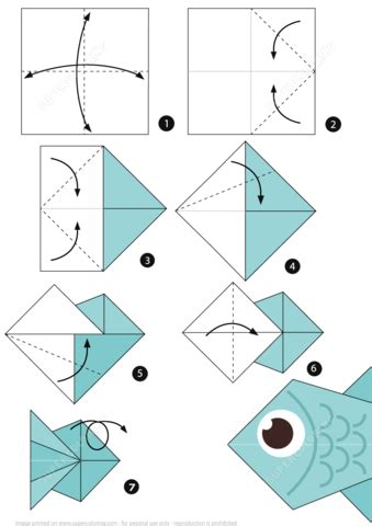 origami fish directions how to make an origami fish step by step