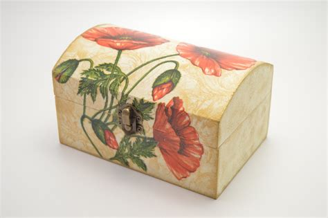 wooden boxes for decoupage wooden jewelry box decoupage box shabby chic box flower