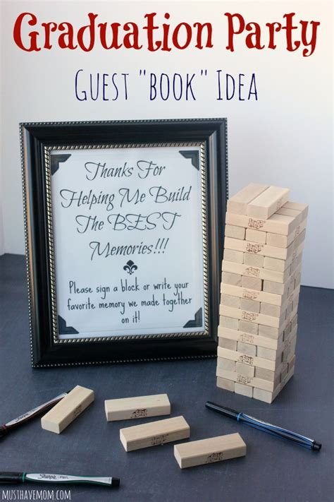picture books for idea and details graduation guest book idea with free printable