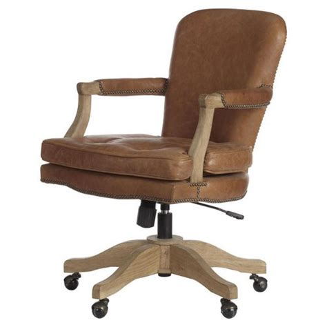 Leather Desk Chair No Wheels by Leather Office Chairs Without Wheels