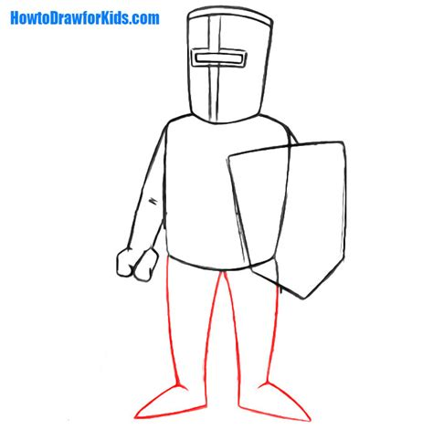 draw a how to draw a crusader for howtodrawforkids