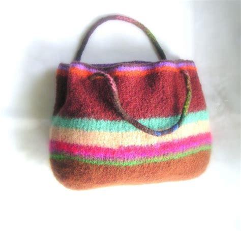 knitted purse patterns beginners easy tote bag knit felted pattern pdf by graceknittingpattern