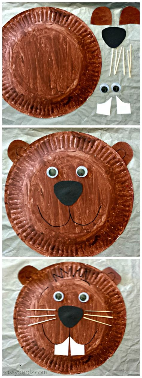 groundhog day crafts groundhog paper plate craft for groundhog day for