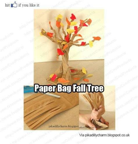 paper bag tree craft pin by rosado amanda on crafts november