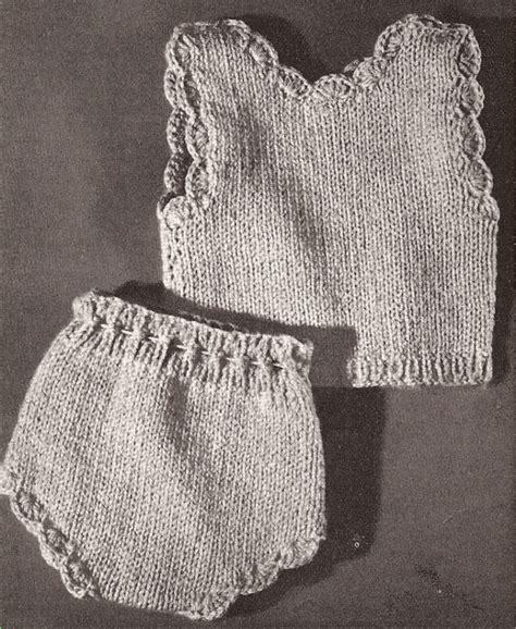 Vintage Knitting Pattern To Make Doll Undershirt Vest
