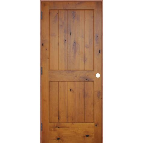 prehung solid wood interior doors pacific entries 32 in x 80 in rustic prefinished 2 panel