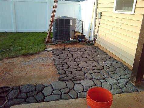 patio molds concrete pavers extending the concrete patio lcruzproperties