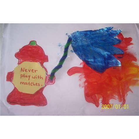 safety crafts for blazing preschool crafts of a hydrant