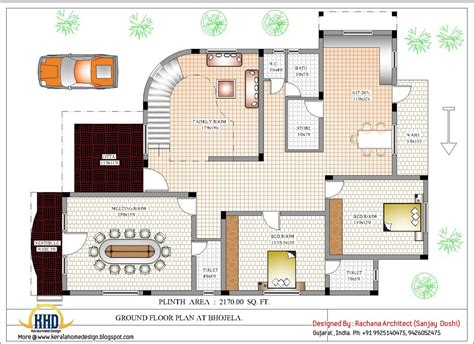 plan home design luxury indian home design with house plan 4200 sq ft
