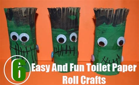 easy crafts using toilet paper rolls 6 easy and toilet paper roll crafts diy home things