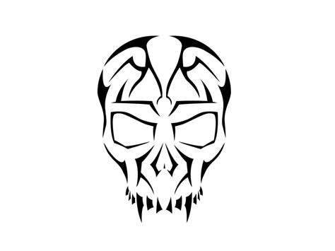 free tribal skull designs clipart best