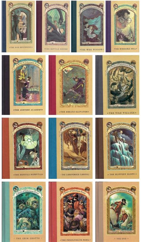 lemony snicket picture book a series of unfortunate events books 1 13 by lemony