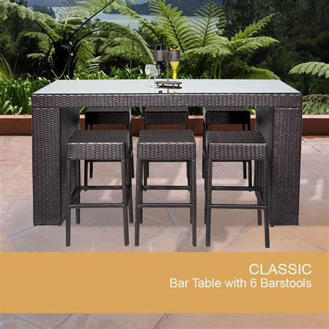 outdoor bar table and stools outside bar furniture