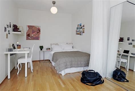 Bedroom Chairs For Small Spaces 10 small one room apartments featuring a scandinavian d 233 cor