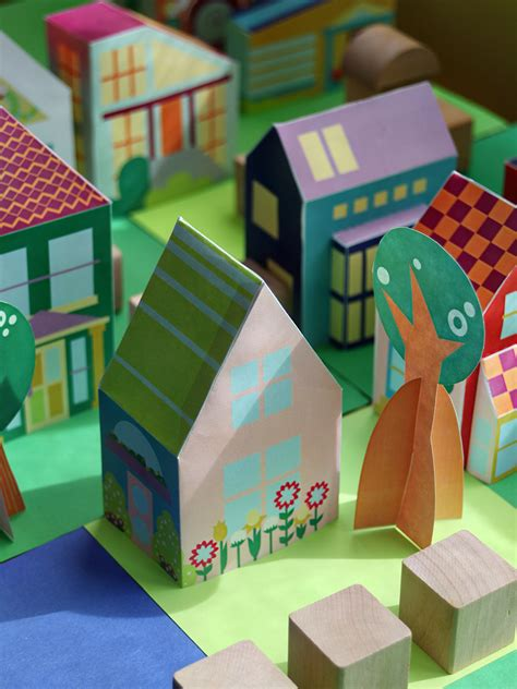 building crafts for build your own neighborhood printable house 10