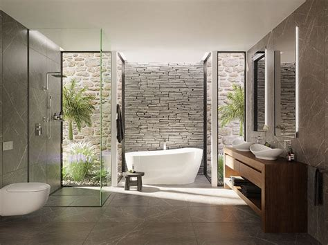 modern ensuite bathroom designs stylish bathroom vanity in polytec sepia oak ravine