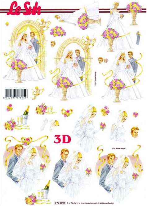 wedding decoupage sheets wedding day le suh 3d decoupage sheet