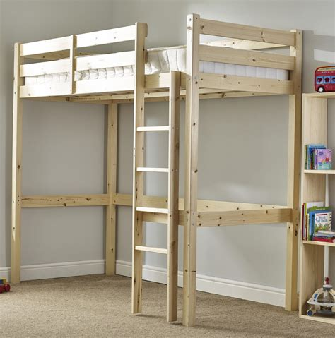 bed with single bunk icarus 3ft single heavy duty solid pine high sleeper bunk bed