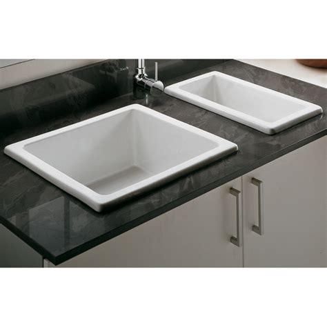 porcelain kitchen sinks undermount astini hton 50s 0 5 bowl white ceramic undermount