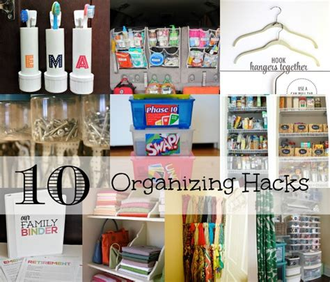 hacks for home organization 10 organizing hacks for the home family focus