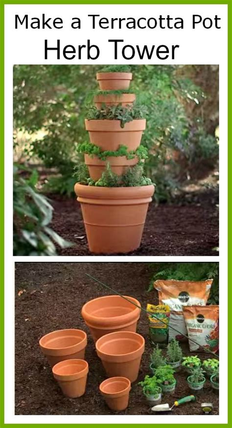 how to make terracotta diy terracotta herb tower