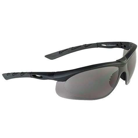 eye rubber st swiss eye lancer sunglasses smoke lens black rubber