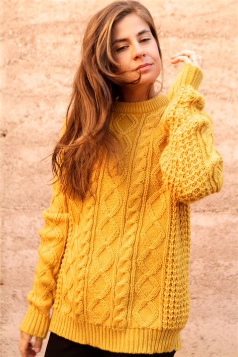 mustard yellow knit sweater mustard yellow cable knit sweater slouchy oversize warm cozy