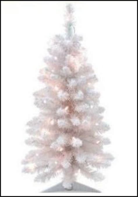 small white pre lit tree the best white artificial tree you can buy