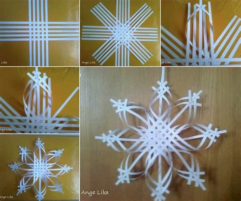 paper snowflake crafts wonderful diy colorful woven snowflake