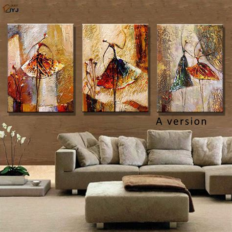 canvas paintings for rooms ballet dancer picture painted modern abstract
