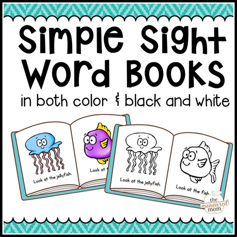 words and pictures book 104 simple sight word books in color b w the measured