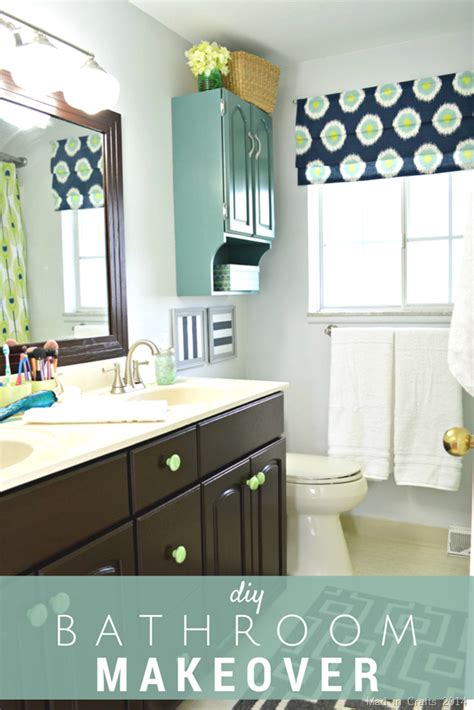 Bathroom Vanity Makeover Diy by Diy Bathroom Makeover Reveal Mad In Crafts