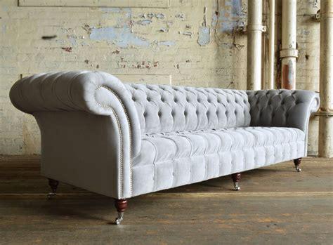 grey velvet chesterfield sofa naples silver grey velvet 4 seater chesterfield sofa