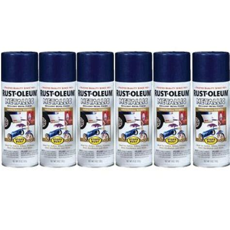 home depot spray paint blue rust oleum stops rust 11 oz gloss cobalt blue metallic