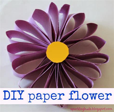 easy paper flower crafts easy paper flower sparklingbuds