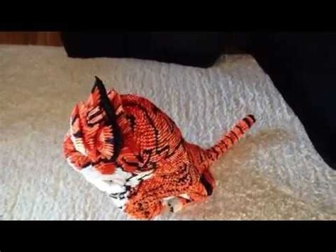 3d origami tiger 3d origami tiger