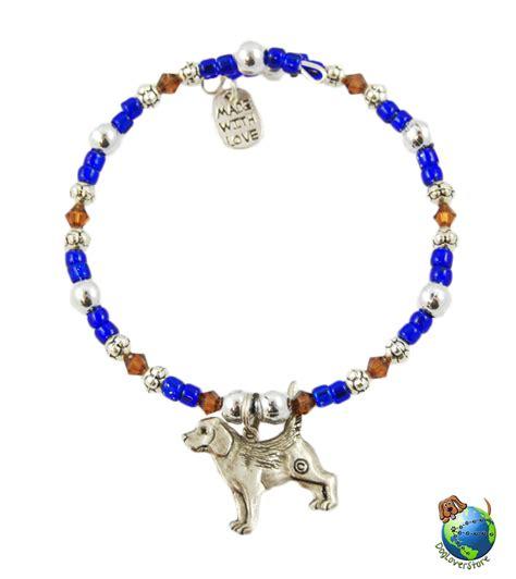 beaded charms beagle beaded charm bracelet silver handmade