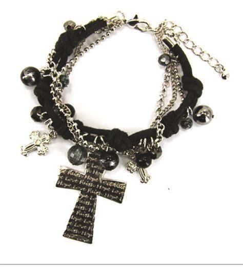 christian bead bracelet 4030174 corded chain bead cross christian bracelet jesus