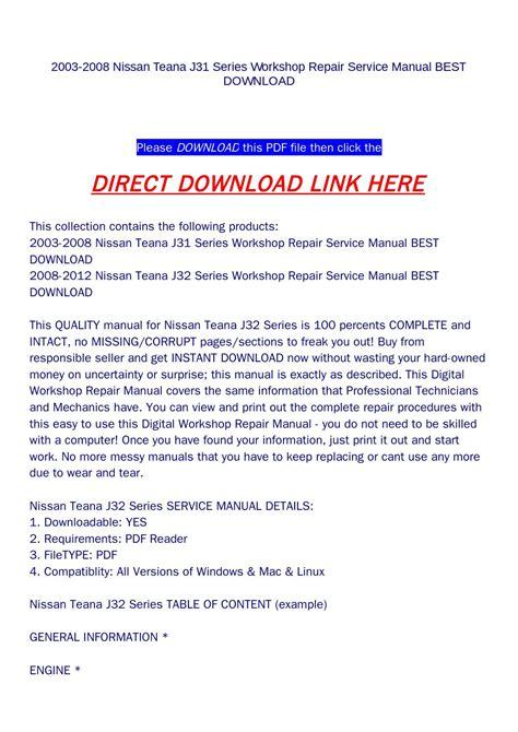 what is the best auto repair manual 2008 saab 42072 head up display 2003 2008 nissan teana j31 series workshop repair service manual best download by goodmanami issuu