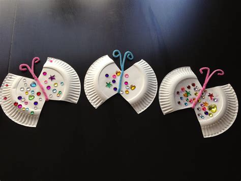 craft paper butterflies of 5 paper plate jeweled butterfly craft