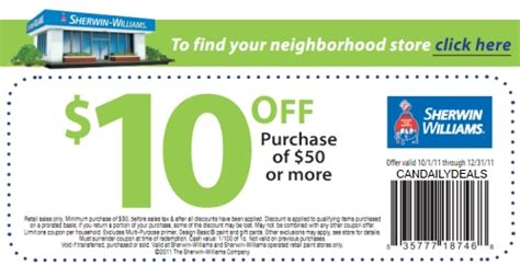 sherwin williams store coupons canadian daily deals sherwin williams 10 50