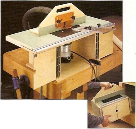 router woodworking plans this compact router table has a large top with wings that