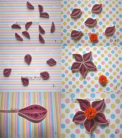 paper craft work tutorial tutorial quilled purple flower easy to follow picture