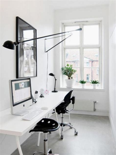 white home office and small home office desk ideas