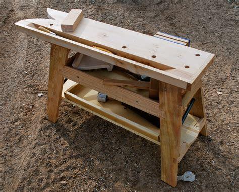 portable woodworking bench plans saw bench update paleotool s weblog