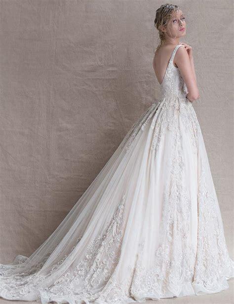 sparkly beaded wedding dresses luxury wedding dresses 2016 scoop a line bling beaded